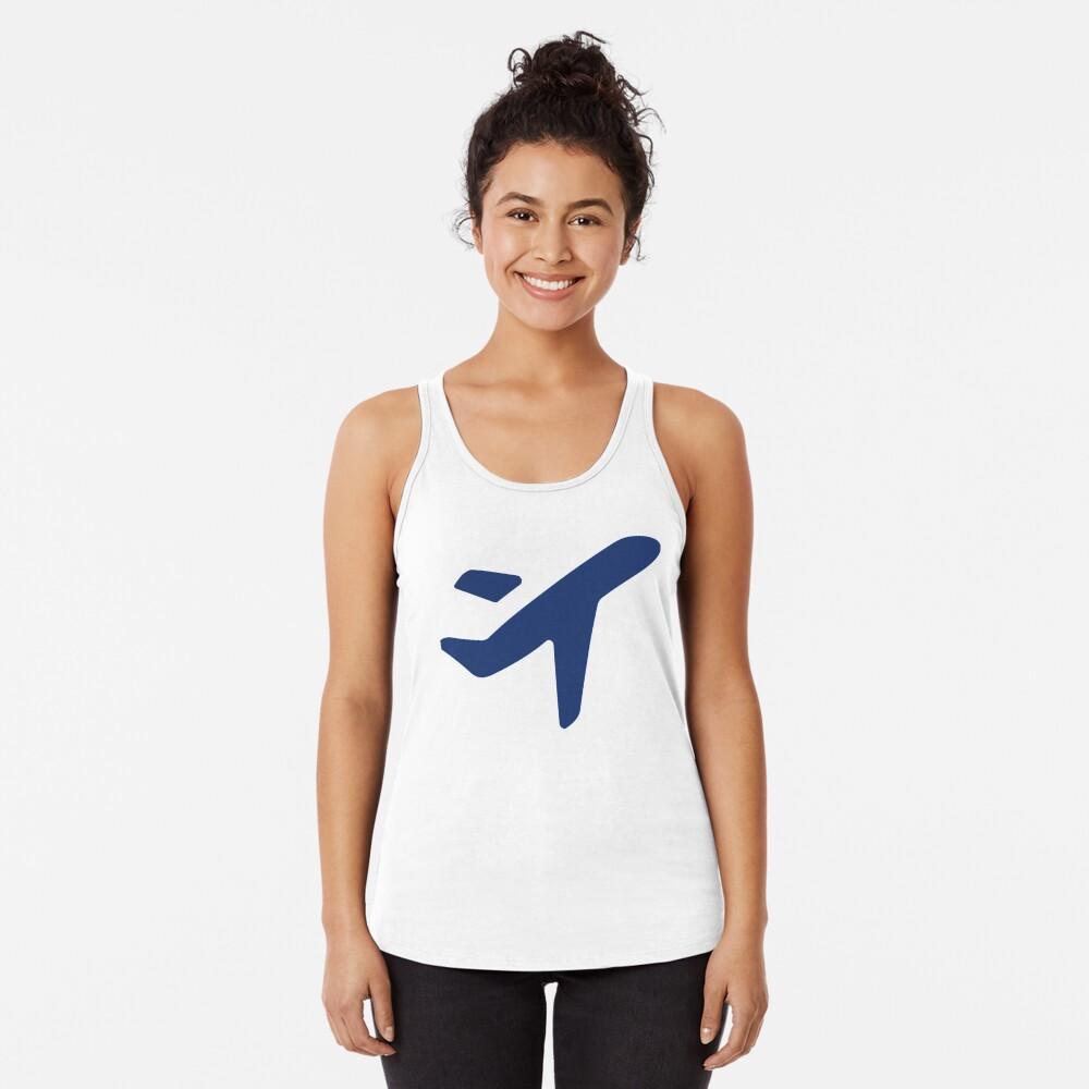 Jess.Travel Plane solo logo Racerback Tank Top