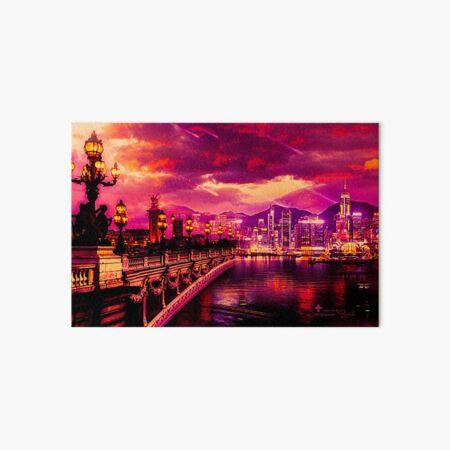 Purple City Galeriedruck