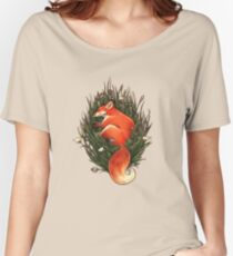 Fox in the Brush Women's Relaxed Fit T-Shirt