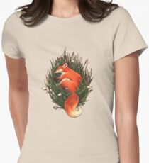 Fox in the Brush Women's Fitted T-Shirt