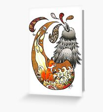 The Fox, the Crow, and the Cookie Greeting Card
