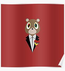Kanye West DropOut Bear Poster