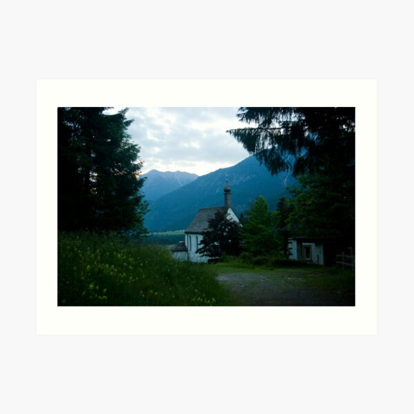 Little chapel in the mountains  Art Print