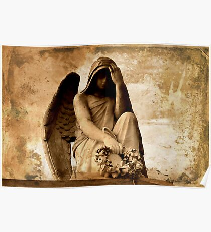 Angel In Mourning, Laurel Grove Cemetery Poster