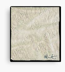 1 Sheet of toilet paper signed Canvas Print