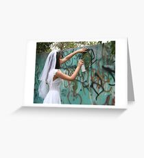 Bride Graffiti Greeting Card