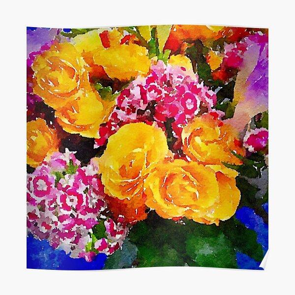 Watercolor Bouquet Poster