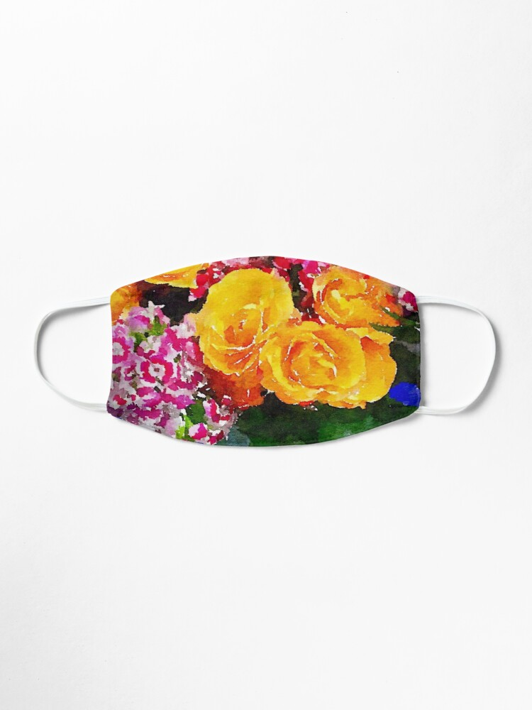 Alternate view of Watercolor Bouquet Mask