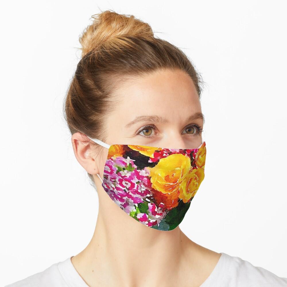 Watercolor Bouquet Mask