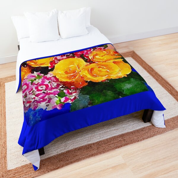 Watercolor Bouquet Comforter