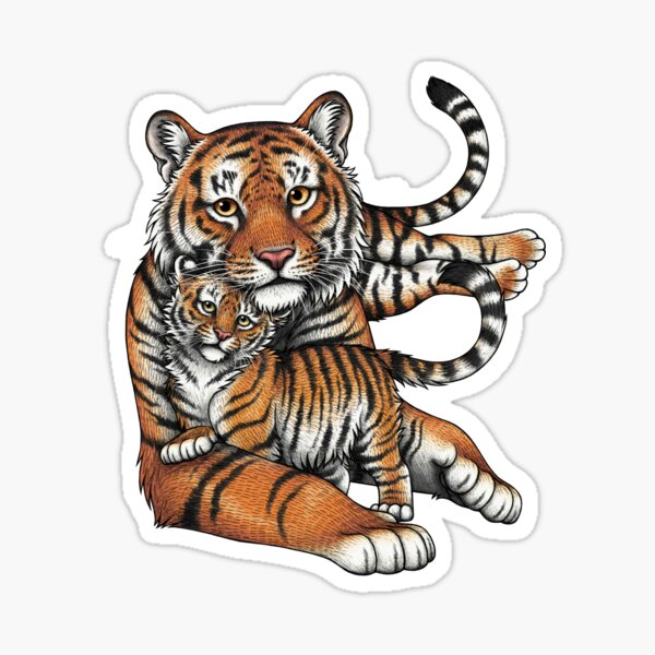 Sumatran Tigers Sticker
