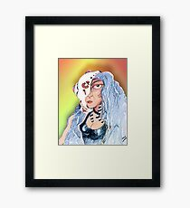 Cyborg Woman Framed Print