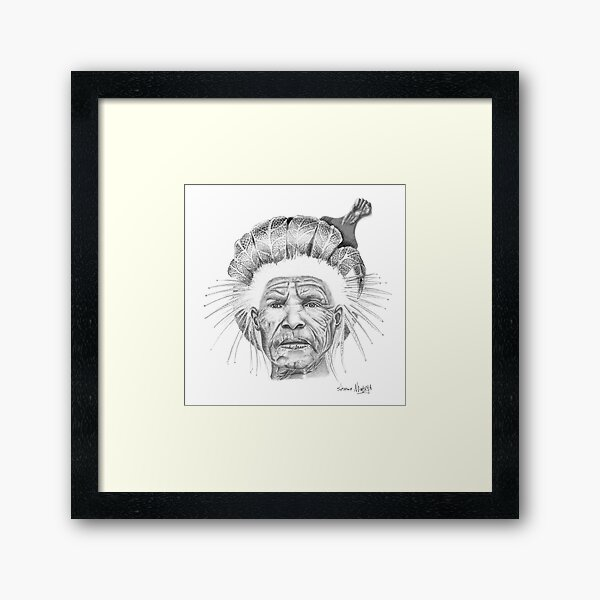 The Sun Queen Framed Art Print