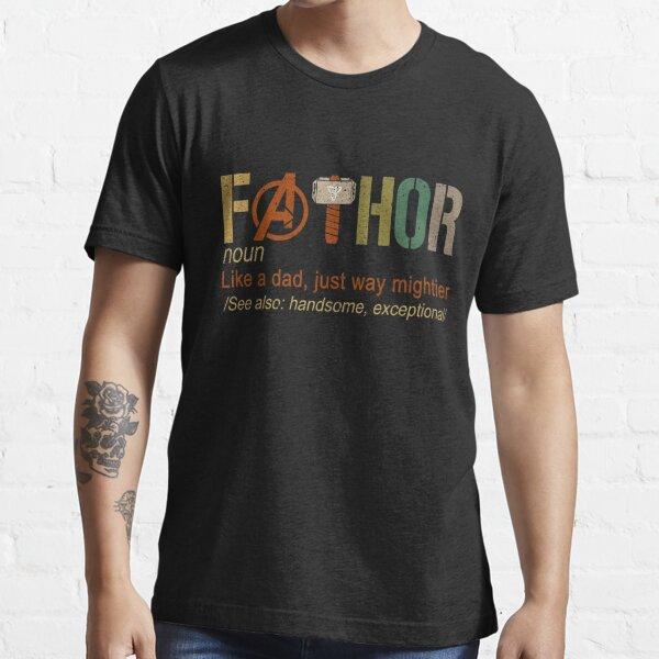 Fa-Thor wie Papa nur viel mächtiger Held Essential T-Shirt