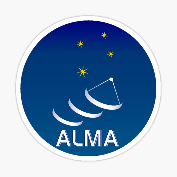 Atacama Large Millimeter Array (ALMA) Logo Sticker