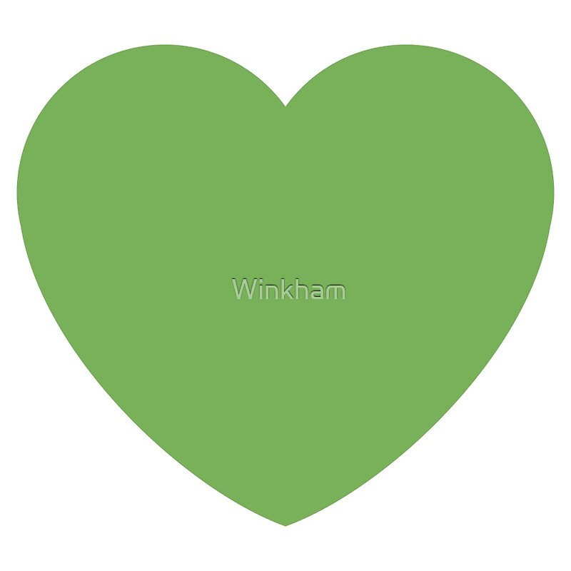 """Green Heart Emoji"" Art Prints By Winkham"