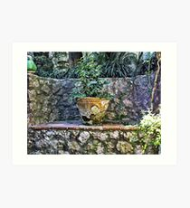 Stone Bench On Capri Art Print