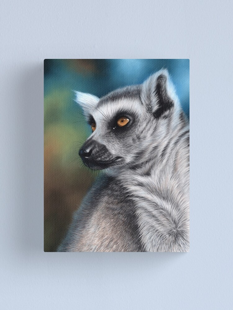 Alternate view of Wildlife artwork of a Lemur Canvas Print