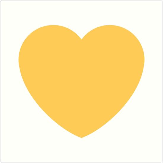 Gelbes Herz emoji Kunstdrucke von Winkham | Redbubble