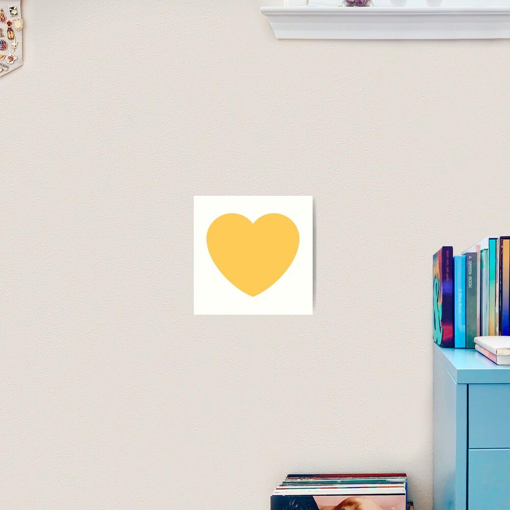 Gelbes Herz emoji Kunstdruck
