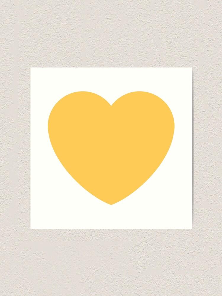 Alternative Ansicht von Gelbes Herz emoji Kunstdruck