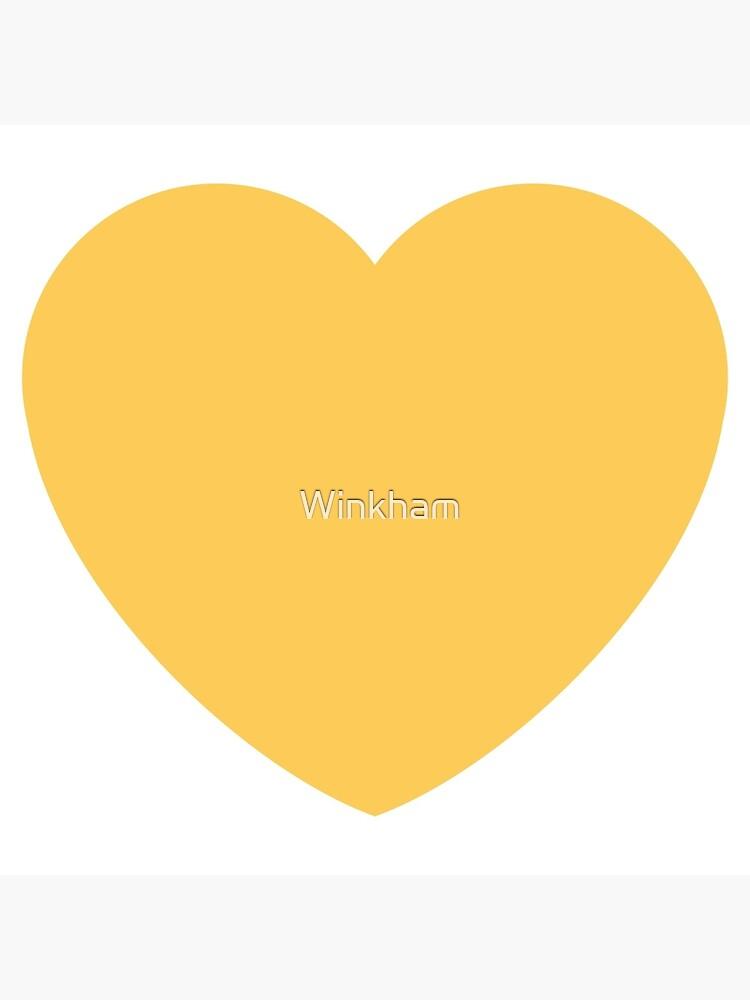 Gelbes Herz emoji von Winkham