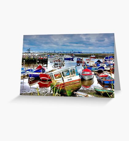 Down With The Boats Greeting Card