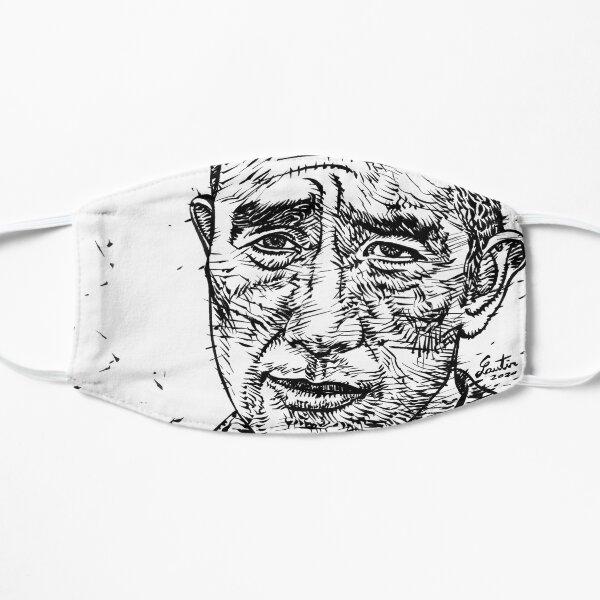 YUKIO MISHIMA ink portrait.1 Flat Mask