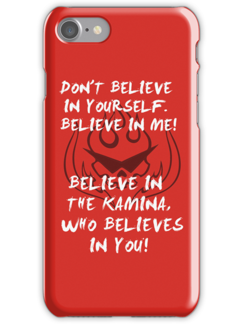 Kamina quote iPod case by Matthew James