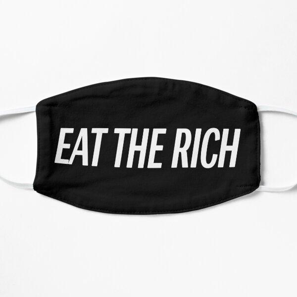 Eat The Rich Mask (Black & White) Flat Mask