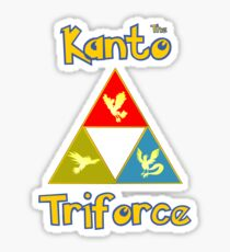 Kanto's Legendary Triforce Sticker