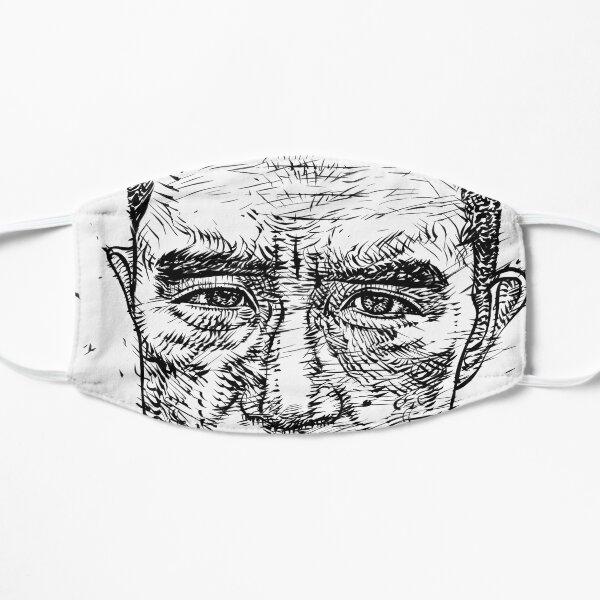 YUKIO MISHIMA ink portrait.2 Flat Mask