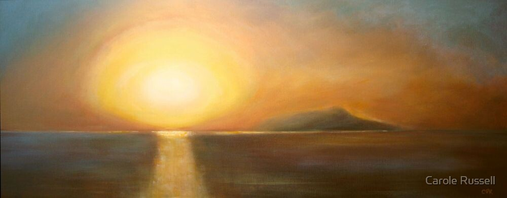 Sunset over Ischia by Carole Russell