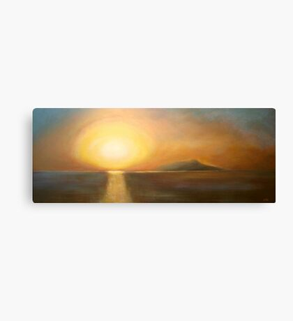 Sunset over Ischia Canvas Print