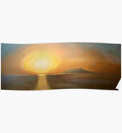 Sunset over Ischia Poster