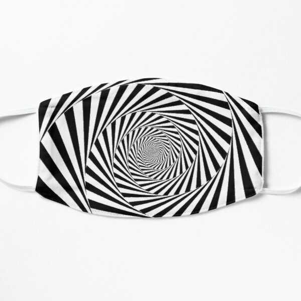 #Optical #Illusion #OpticalIllusion #VisualArt Black and White znamenski.redbubble.com Mask