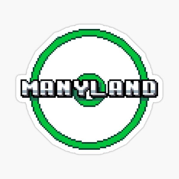 Manyland Logo Rings by Cardboard Sticker