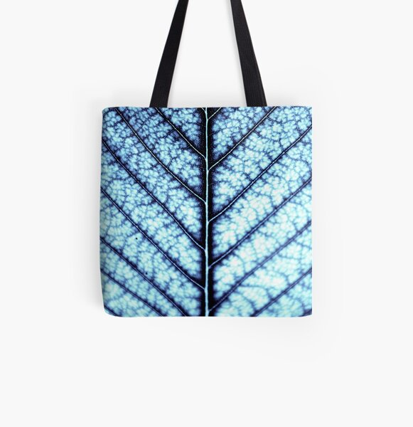 BLUE SERIES Abstract leaf close-up All Over Print Tote Bag
