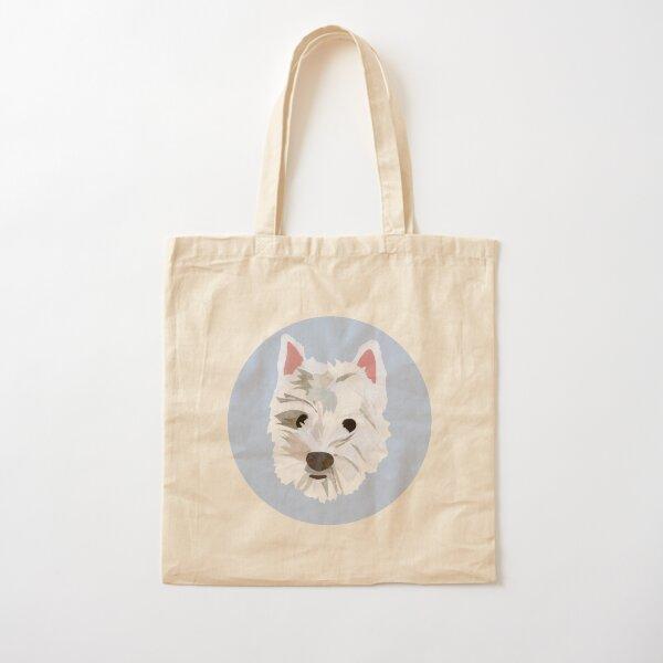 Max the Westie Cotton Tote Bag