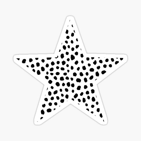 Black and White Dalmatian Dots  Sticker