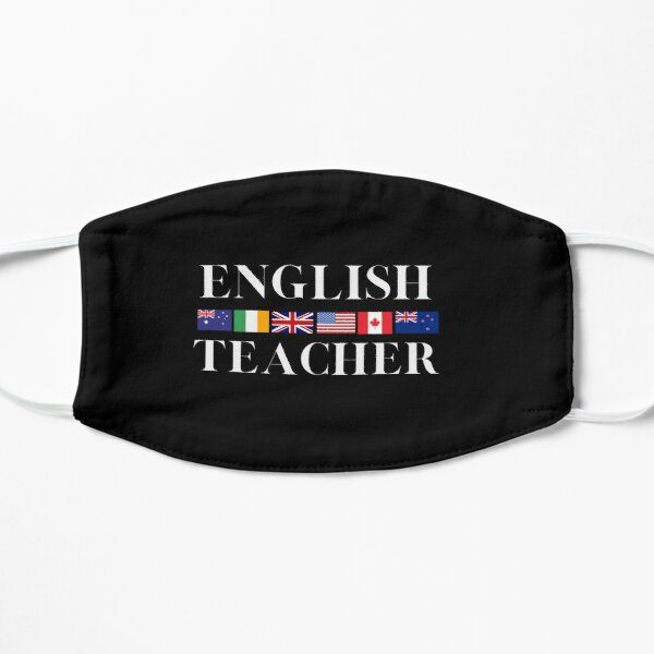 English Teacher English Speaking Country Flags Light Writing Mask