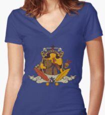 Bear & Bird Crest Women's Fitted V-Neck T-Shirt