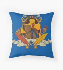 Bear & Bird Crest Throw Pillow