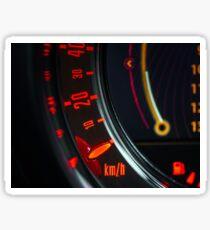 Elegant speed control dashboard by modern sport car Sticker