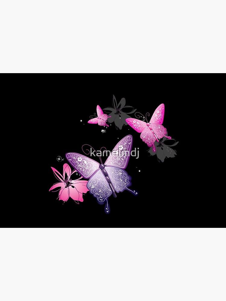 Butterfly Black face mask , beautiful face mask , lovely face mask by kamelmdj
