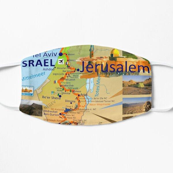 Israel National Trail Map, Shvil Israel Map Maske