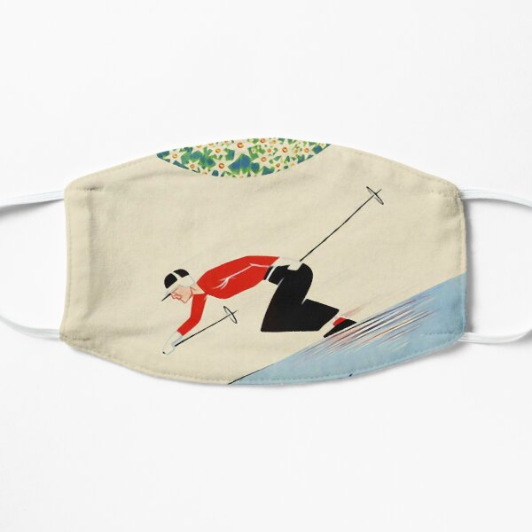 Art Deco era vintage Swiss Alps sport ad Mask