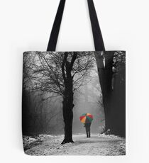A Lonely Winters Walk Tote Bag