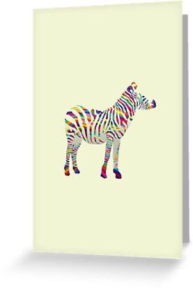 Rainbow zebra by JayZ99