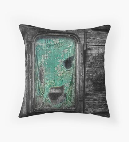 Curtain at the Window Throw Pillow